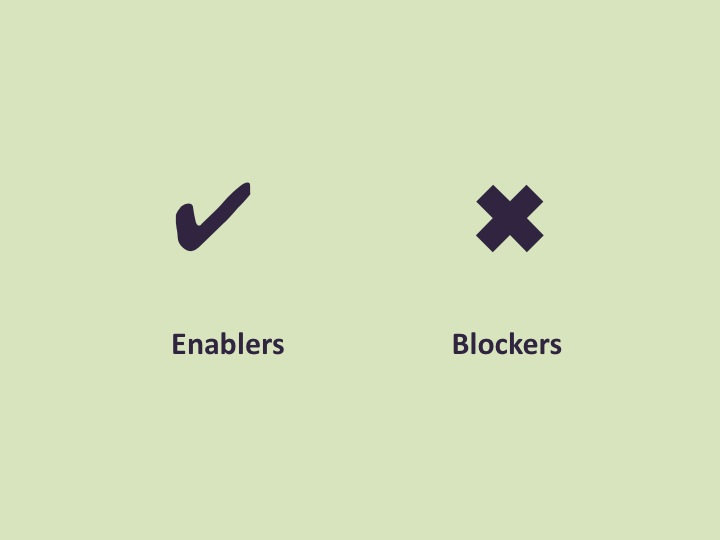 Turn Blockers into Enablers