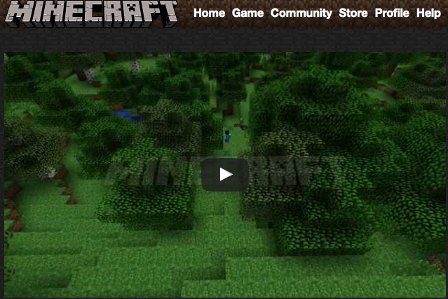 Minecraft home page